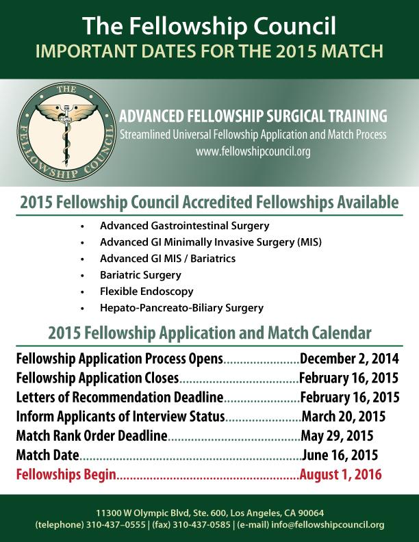 Fellowship Council 2015 dates