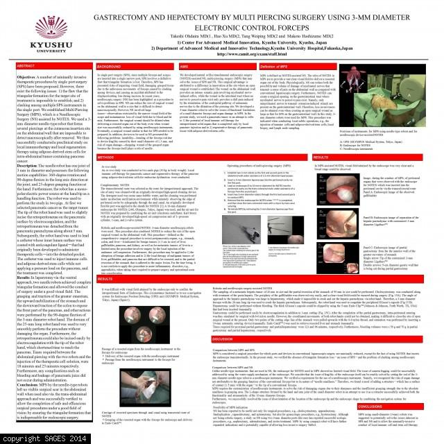 Gastrectomy and Hepatectomy by Multi Piercing Surgery Using 3-mm Diameter Electronic Control Forceps