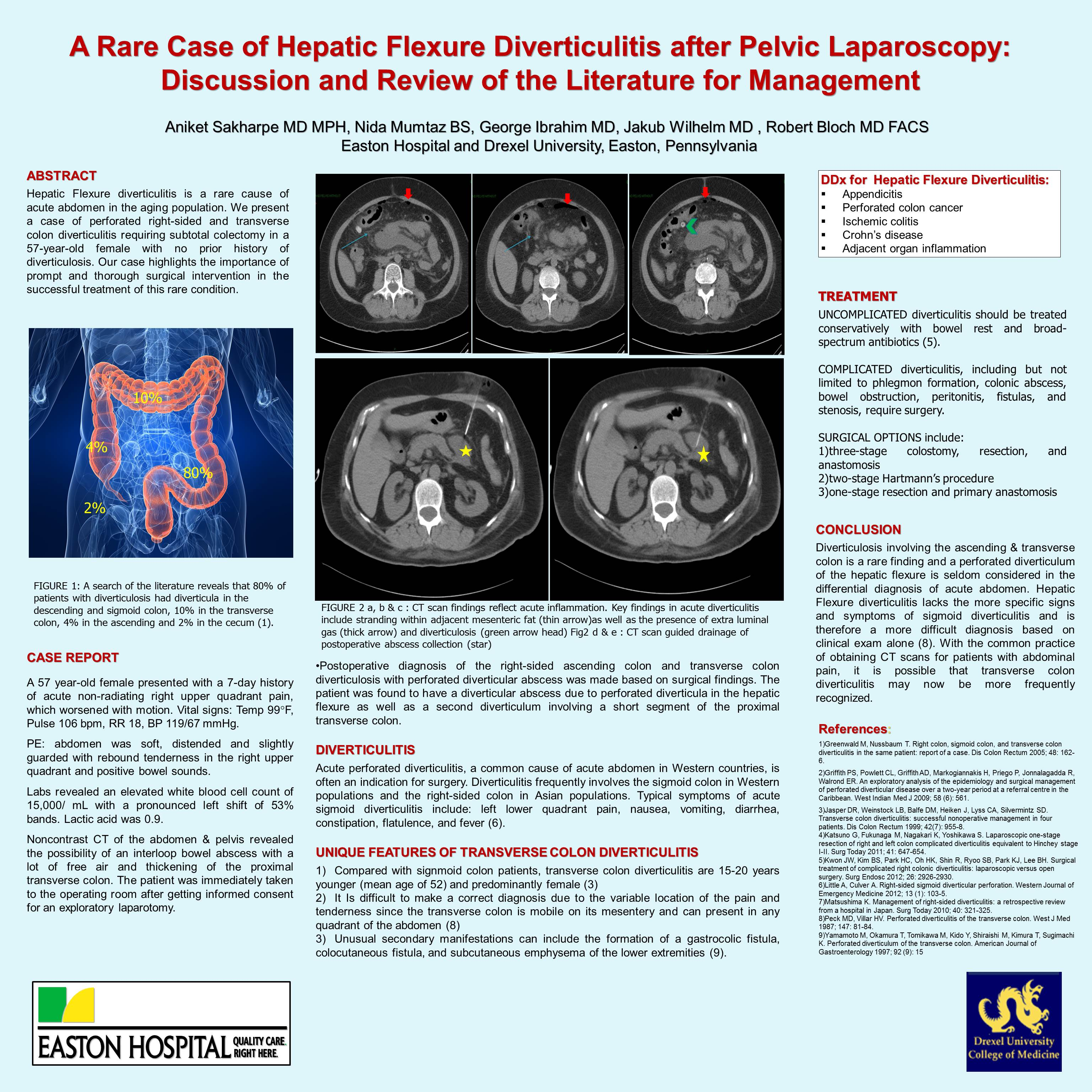 A Rare Case Of Hepatic Flexure Diverticulitis After Pelvic Laparoscopy And Review Of Literature For Management Sages Abstract Archives